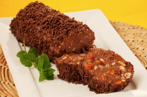 Salaminho de Sorvete de Chocolate
