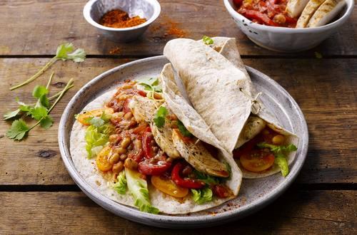 Tortillas de poulet et lentilles