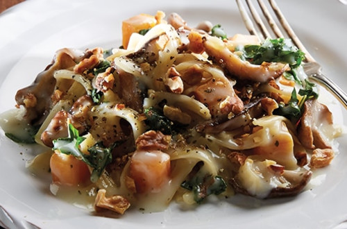 Butternut Squash Parmesan Pasta with Shitake Mushrooms