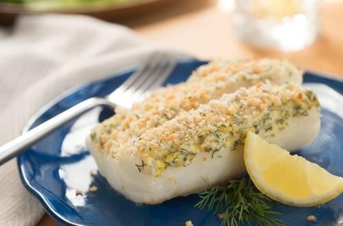 Lemon Dill Crusted Cod