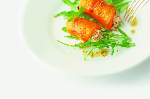Poivrons grillés farcis au thon