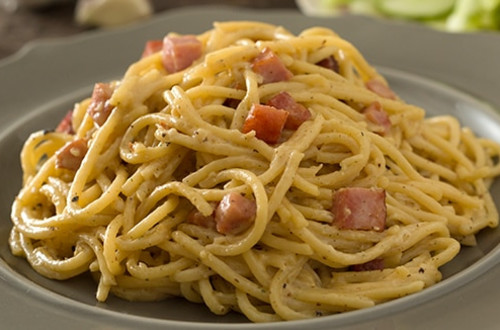 Creamy Spaghetti with Ham