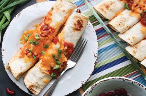 Enchiladas au brocoli & au fromage cheddar