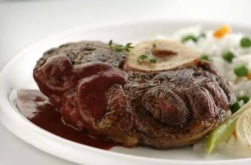 Carne al horno al rojo vivo