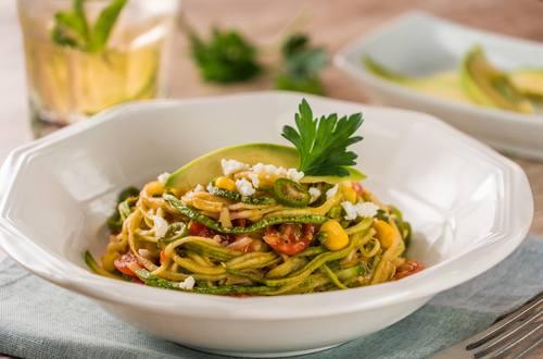 Espagueti de Calabacita a la Mexicana