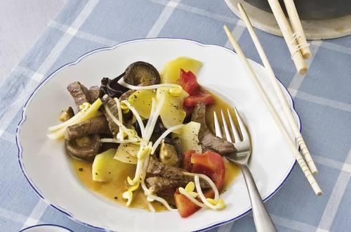 Knorr - Rindfleischpfanne mit Honig und Soja
