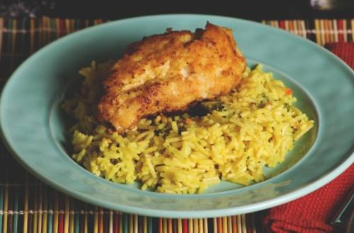 Lemon Chicken Over Rice