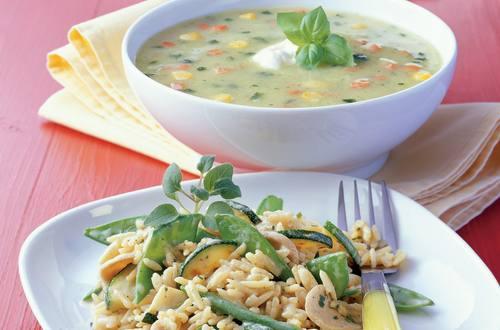 Knorr - Zucchinirisotto mit Erbsenschoten