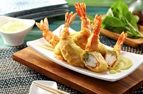 Stuffed Tempura with Wasabi Mayo Dip Recipe