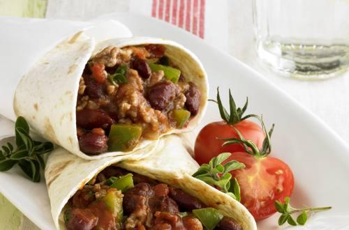 Knorr - Tortillas mit Tomaten-Hackfleisch-Füllung