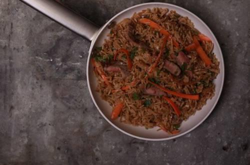 Savory Beef & Mushroom Rice