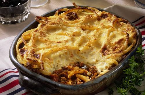 Knorr - Makkaroni-Fleisch-Auflauf mit Zucchini