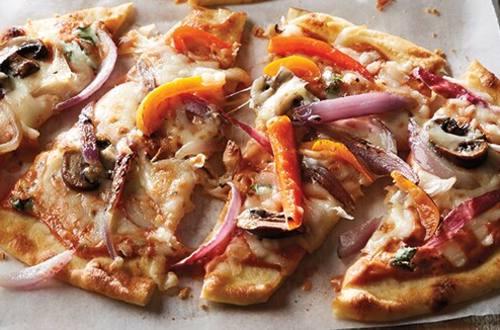 Pizza Parma-Rosa sur pain naan