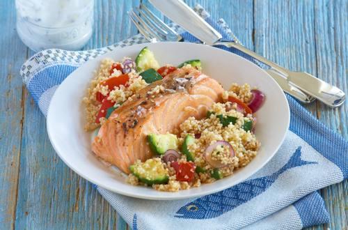 Knorr - Couscous - Gemüse mit Lachsfilets
