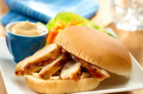 Asian Marinated Chicken Sandwich