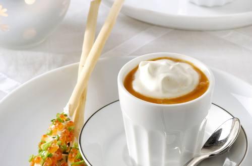 Cappuccino van Kreeft en Langoustinesoep