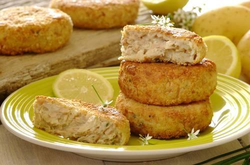 Нежные рыбные котлетки с сыром