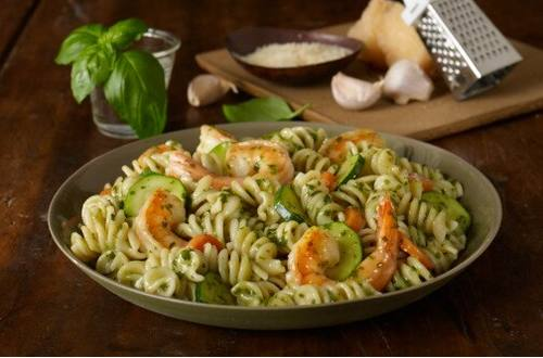 Pesto Shrimp Primavera