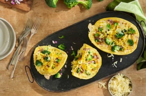 Cheddar Broccoli Spaghetti Squash