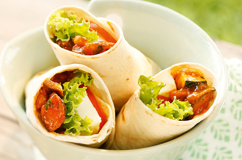 Melanzani-Zucchini Wrap