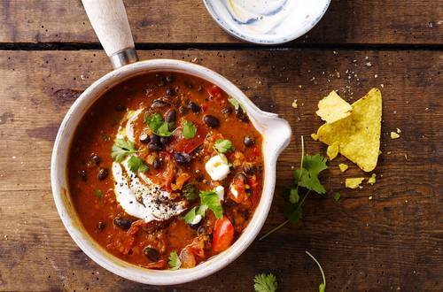 Chipotle black bean chilli