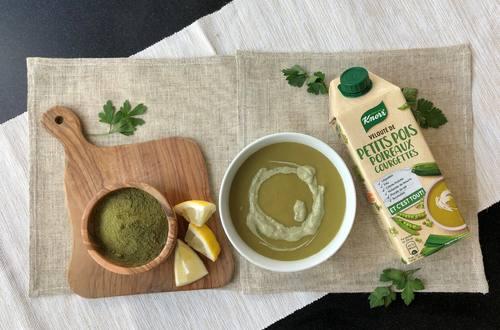 Crème à la moringa et soupe Knorr