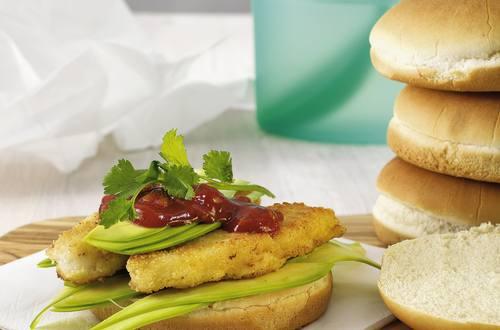 Knorr - Fischstäbchen-Burger vom Lengfisch