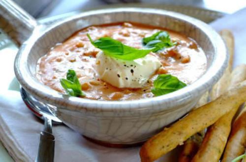 Knorr - Tomatencremesuppe mit weißen Bohnen