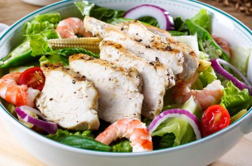 海鮮雞胸暖沙拉