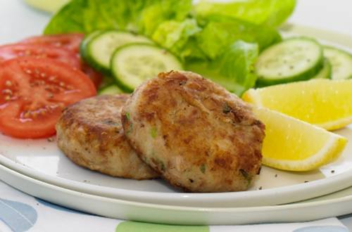 Tuna Potato Cakes Green Salad