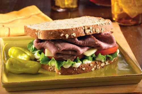 Roast Beef Sandwich with Provolone