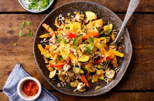 Vegetarisch Reispfanne