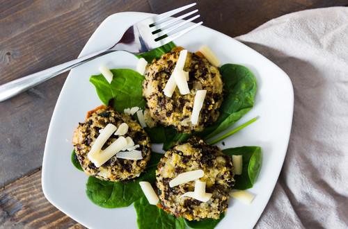 Bouchées de Quinoa aux Champignons