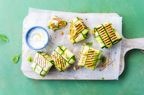 Zucchinipäckchen vom Grill