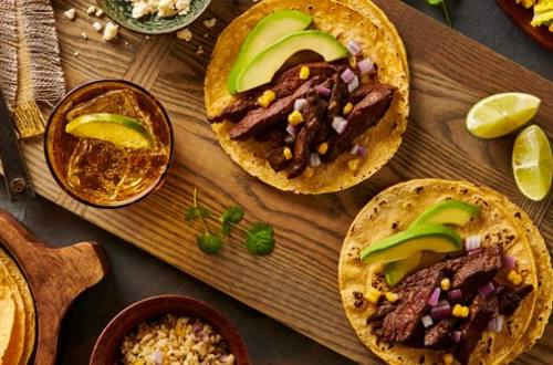 Tacos au steak et au piment ancho