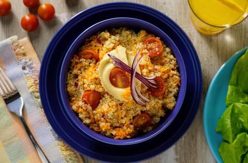 Bowl de Quinoa y Hummus