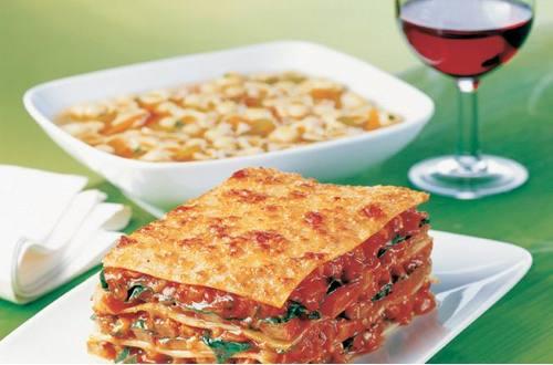 Knorr - Lasagne mit Tomaten, Pilzen und Zucchini