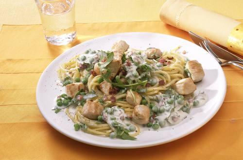 Knorr - Spaghetti Carbonara mit Hähnchen
