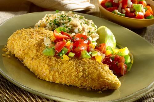 Crunchy Tortilla Chicken