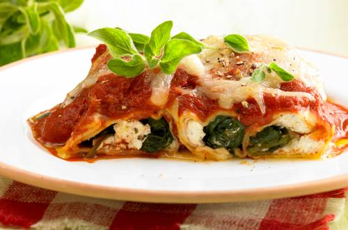 Knorr - Cannelloni mit Spinat-Schafskäsefülle