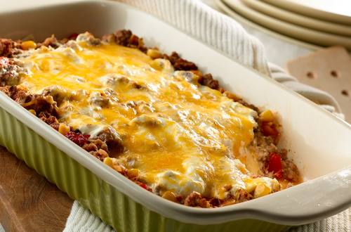 Four Cheese Enchilada Casserole Recipe