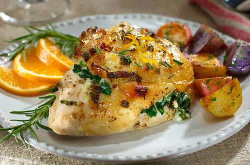 Orange-Rosemary Stuffed Chicken Breasts