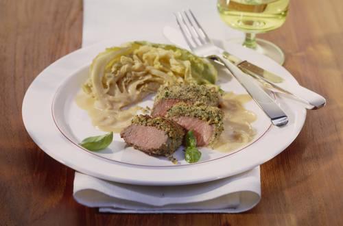 Knorr - Lammfilet mit Basilikumkruste