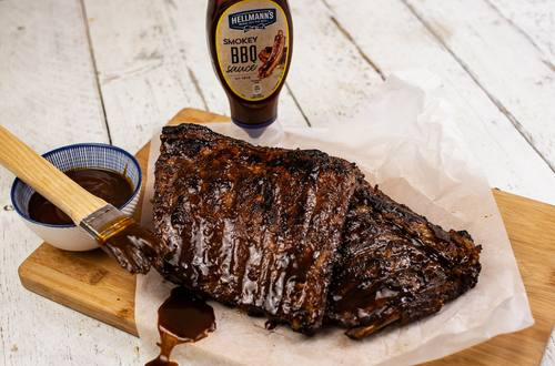 GIANT TRIPLE GLAZED BBQ RIBS