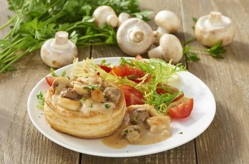 Knorr - Blätterteigpasteten mit Pilzen