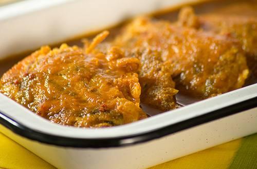 Tortitas de carne en salsa de chipotle