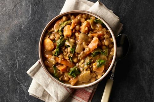 Slow Cooker Sweet Potato & Lentil Stew