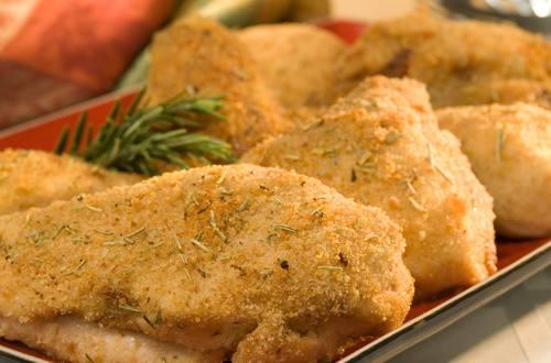 Pollo horneado con hierbas