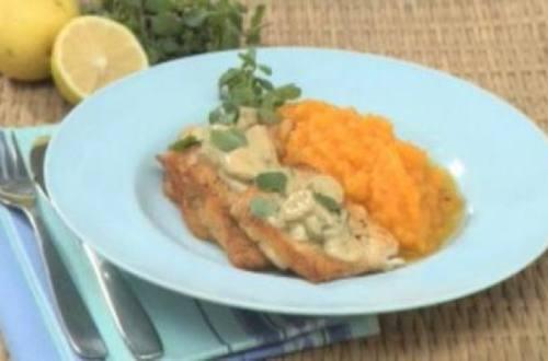 Filet de pescado con olivas