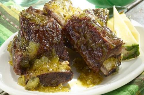 Spicy Poblano & Pineapple Glazed Short Ribs